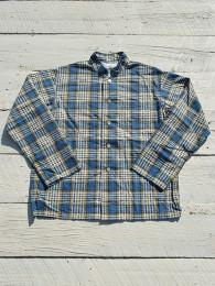 Mao Collar Shirt (Plinted Flannnel / Plaid)