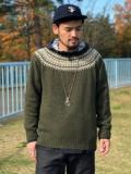 【Harley Of Scotland】 NORDIC CREW SWEATER (NR別注)
